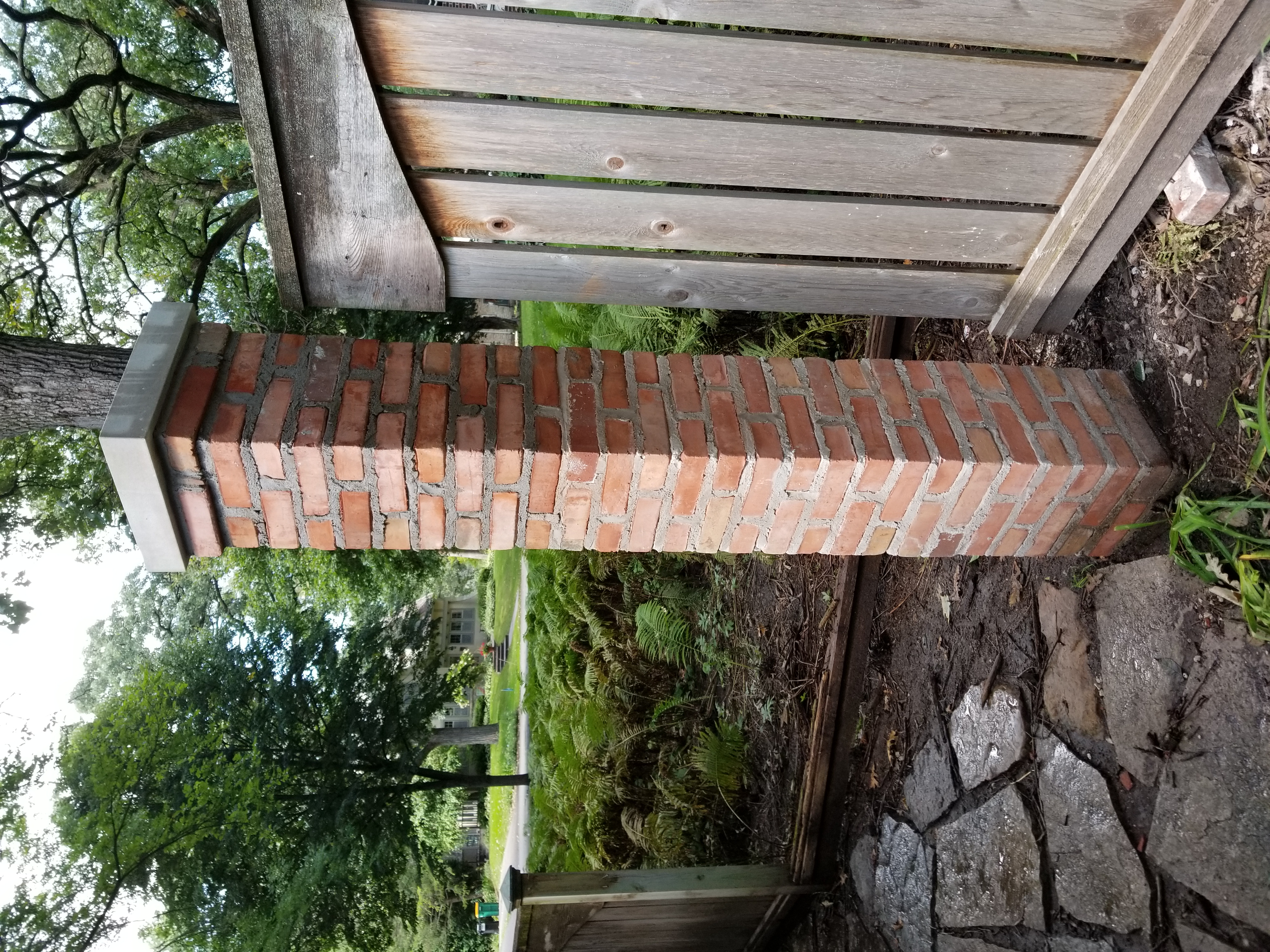 Fence brick pier (2)