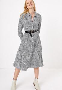 Printed autumn shirt dress