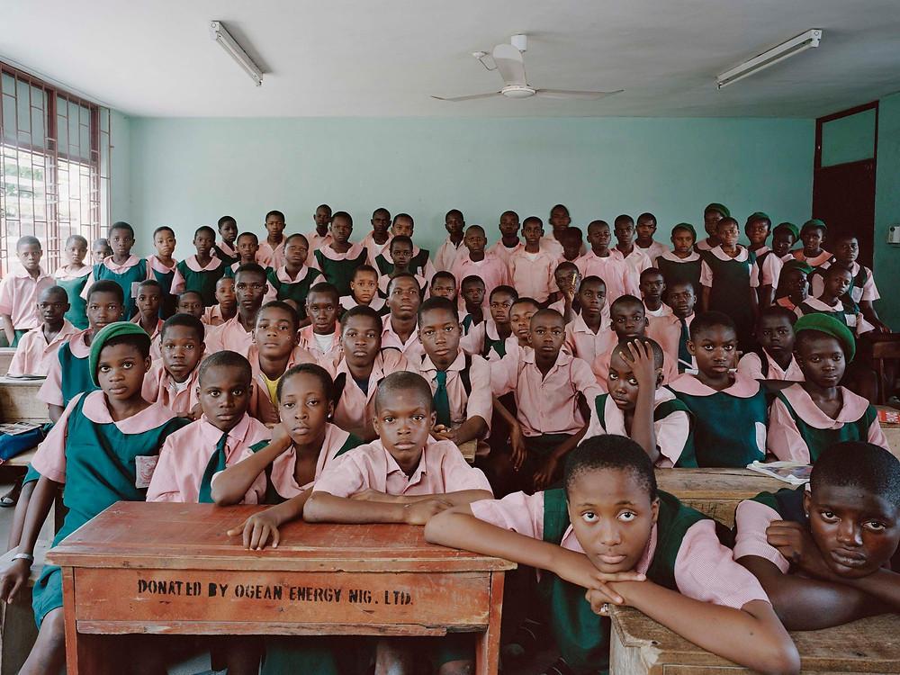 classmates in uniforms