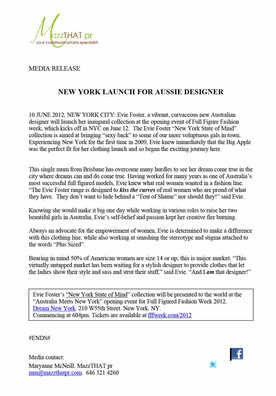 NYC press release