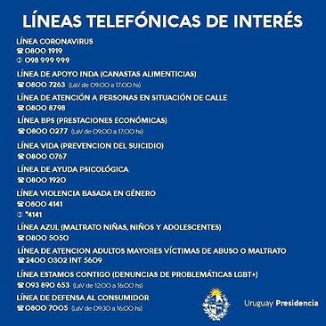 Líneas telefónicas de interés