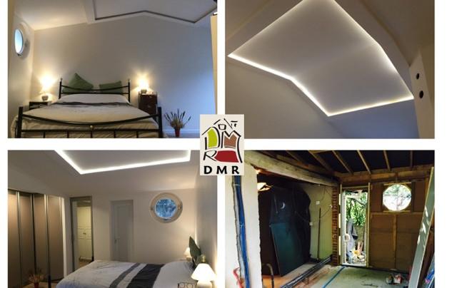 DMR RÉNOVATION plafonds avec sofite lumière diffuse intégrée