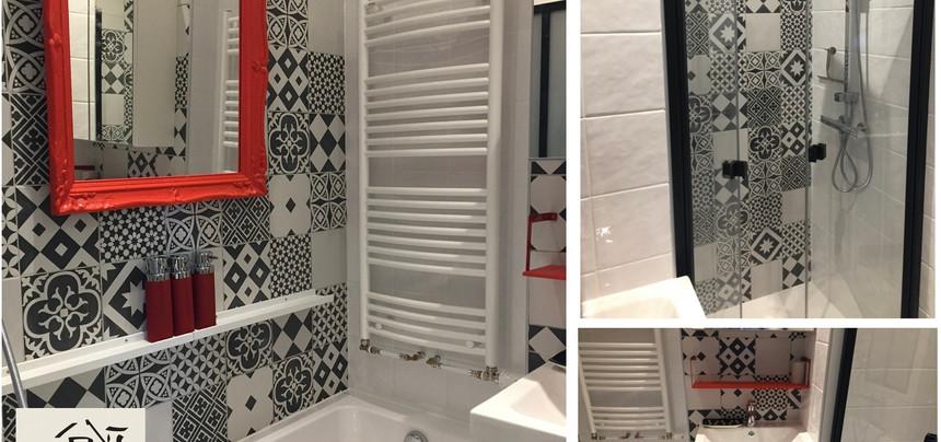 DMR RÉNOVATION Salle_d'eau_optimisée avec baignoire douche et vasque