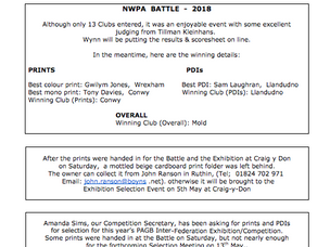 NWPA Newsletter for April 2018
