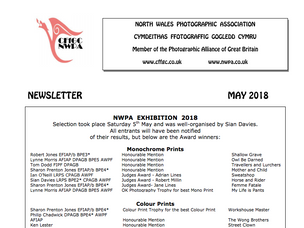 NWPA Newsletter for May 2018