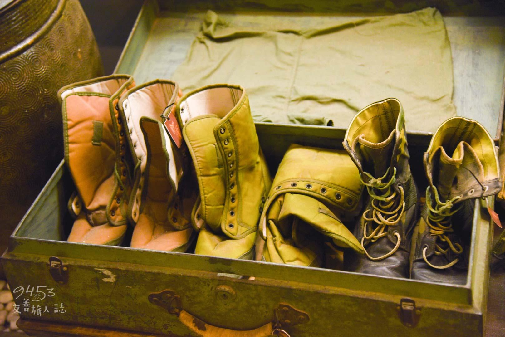 戰爭時期留下的軍靴