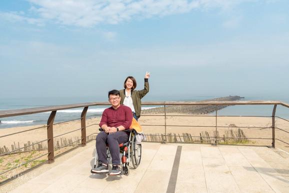 9453|新北|北海北海🎵 輪椅暢遊海岸風光。淺水灣、白沙灣、北海岸遊憩探索館、野柳女王頭。