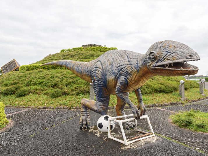 親水公園內的小恐龍