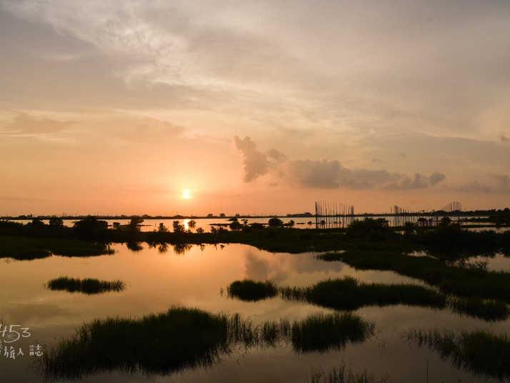 成龍濕地夕陽美景
