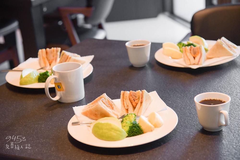 民宿提供的美味西式早餐