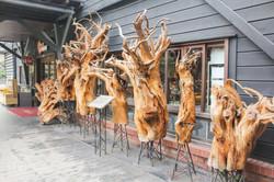 園區內木雕