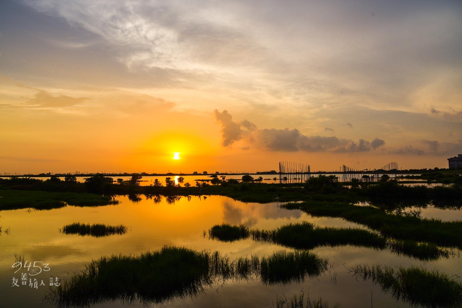 成龍溼地夕陽美景