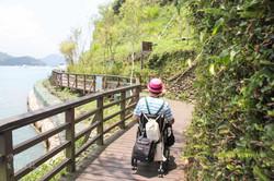 水社碼頭旁環湖步道