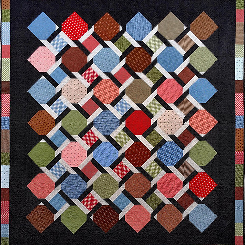 Linked Through Time King Quilt