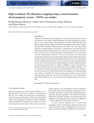 High resolution 3D subsurface mapping using a towed transient electromagnetic system - tTEM: case studies