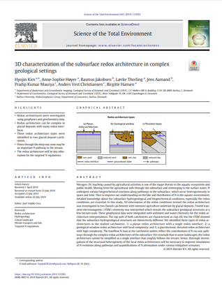 3D characterization of the subsurface redox architecture in complex geological settings