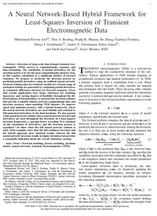 A Neural Network-Based Hybrid Framework for Least-Squares Inversion of Transient Electromagnetic Data