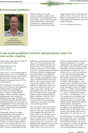 A new towed geophysical transient electromagnetic system for near-surface mapping