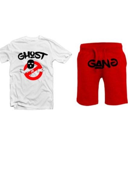 Red/ White Ghost Gang Short Set
