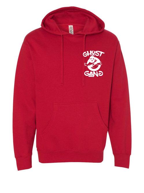 Red/ White Ghost Gang Hoodie