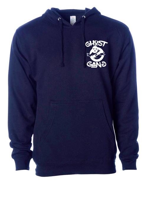 Navy Blue/ White Ghost Gang Hoodie