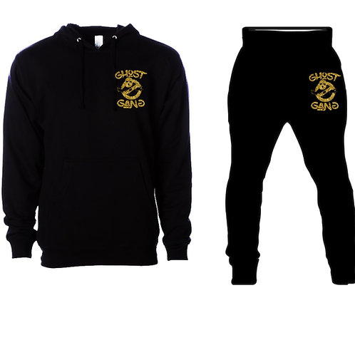 Black/Gold Ghost Gang Sweatsuit