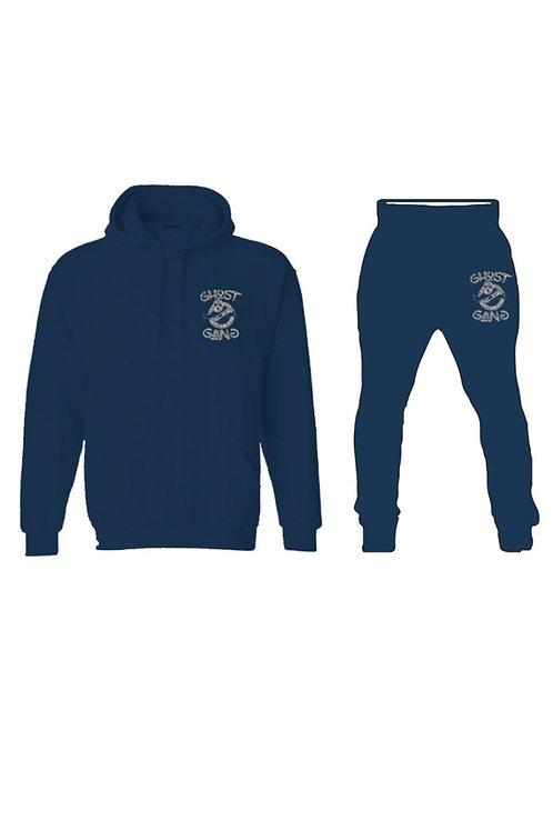 Blue/Silver Ghost Gang Sweatsuit