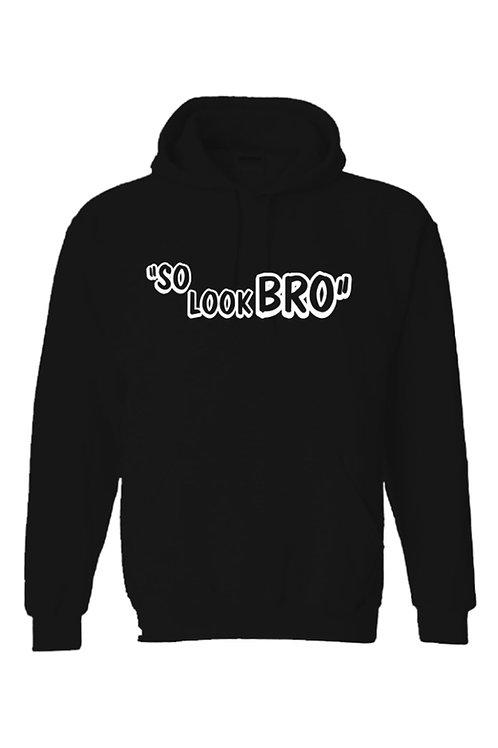 Black/ White  SO LOOK BRO Ghost Gang Hoodie