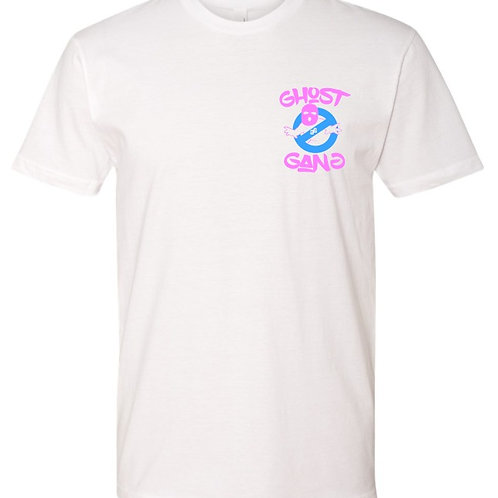 Ladies Pink And Powder Blue Ghost Gang T-Shirt