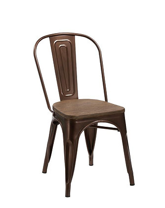 Four 33 Metal And Wood Dining Chairs Homeexpanse Com