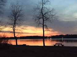 Summer sunset on Long Lake