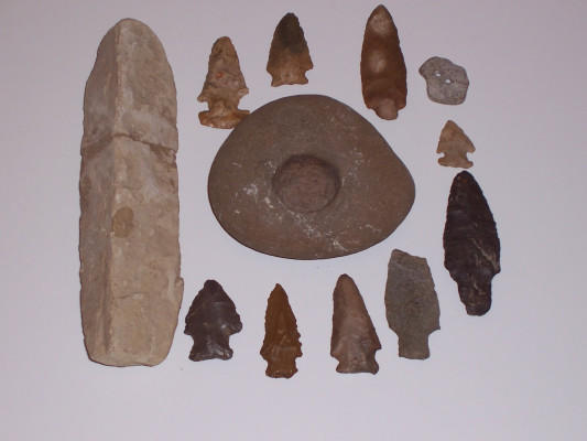 Arrow heads from native Americans