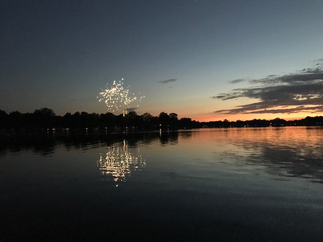 Fireworks over Long Lake