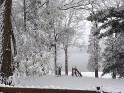 Pavilion-winter scene