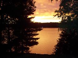 Sunset on Indian Lake