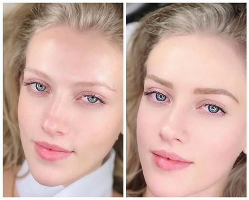Blonde eyebrows in #Microblading techniq