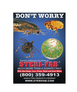 Sterifab Bug Killer Ad - Dont Worry