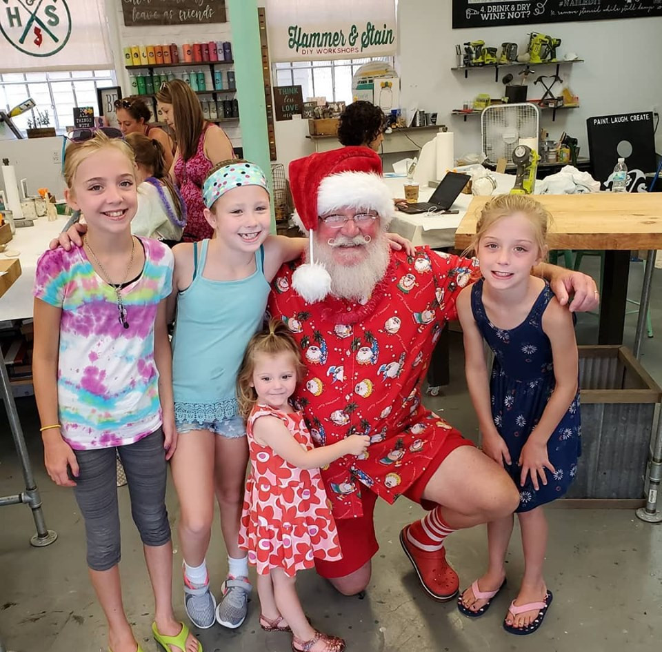A family of Santa believers.