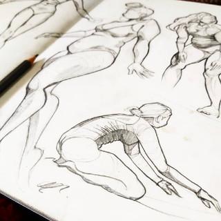 Body Positive Longboarding Sketches