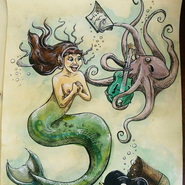 Bethany's Mermaid Character Drawing