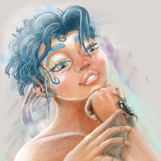 Delphine Concept Painting