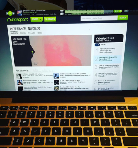Dualities featured on Beatport's Indie Dance homepage
