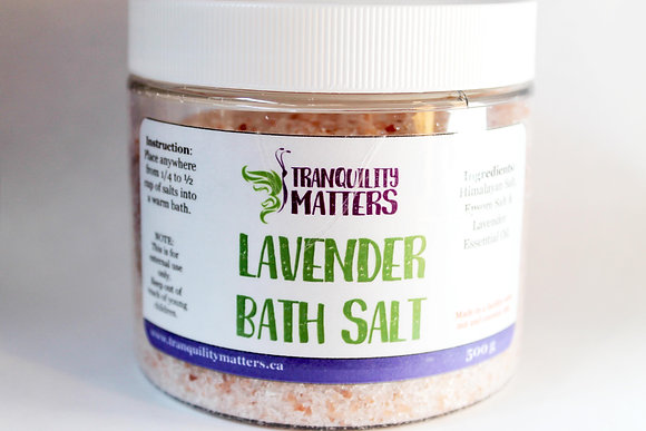 Himalayan & Epsom Bath Salts - Relaxing Lavender