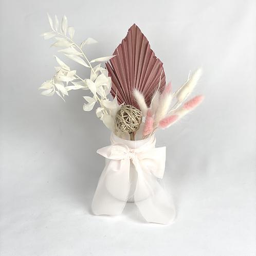 Mini pink dried arrangement