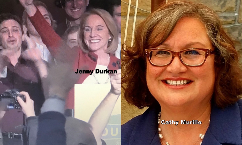 Jenny Durkan and Cathy Murillo