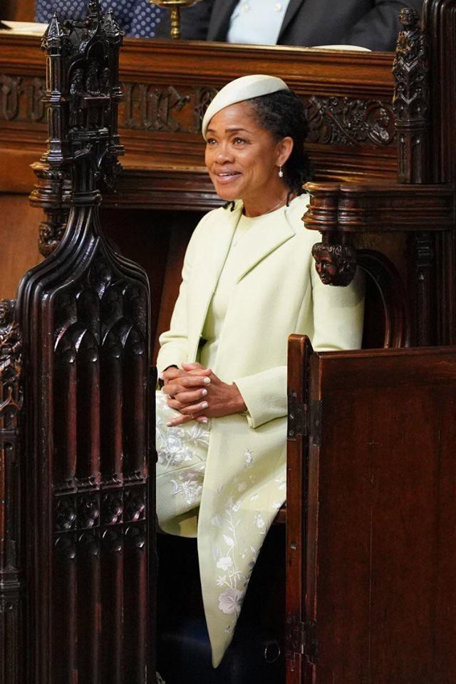 Doria Ragland looks on as her daughter, the former Meghan Markle, now Duchess of Sussex,weds Prince Harry at their royal wedding on May 19.