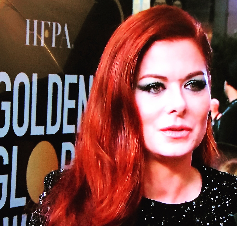 Debra Messing talks gender parity at the 75th annual Golden Globes