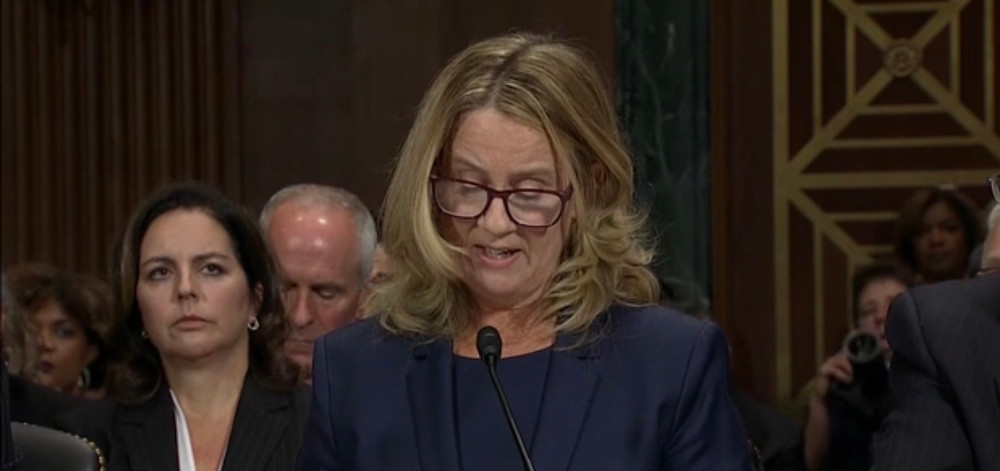 Christine Blasey Ford testifies before the US Senate Judiciary Committee