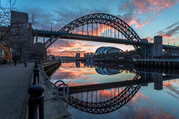 Tyne Bridge at Sunrise