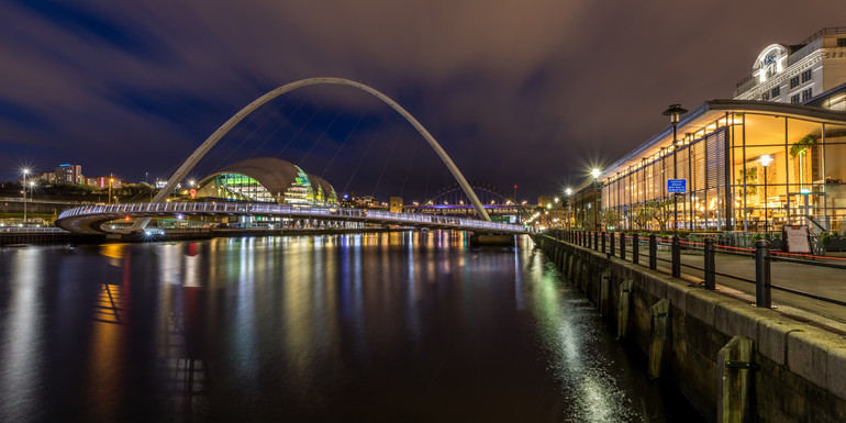Gateshead Millennium Bridge & Newcastle Quayside